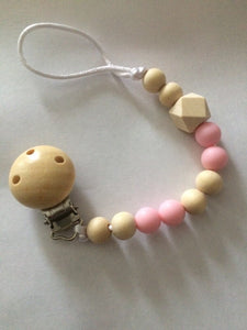 Baby Wooden Teether Dummy Clips