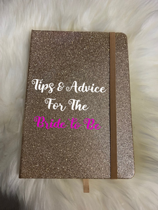 Gold glitter Advice for the Bride Journel