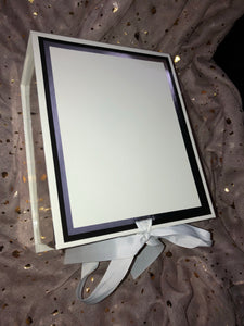 White/Silver Gift Box With Ribbon - Personalised