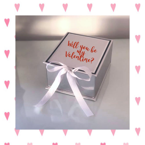 Valentines Gift Box With Ribbon - Personalised