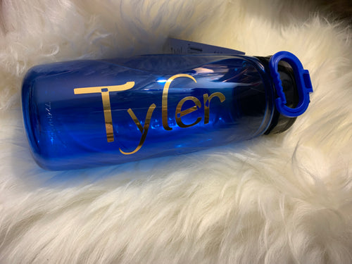 Drink Bottle Blue With Chugger Cap 710ml - Personalised