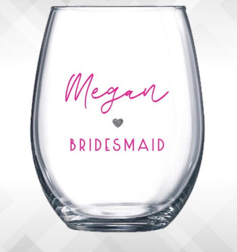 DIY Wedding/Engagement Glass Decals