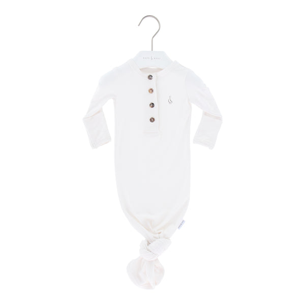 Premium Bamboo Knotted Gowns, Newborn 0-3m