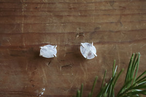 Winter Solstice - Moonstone Studs #20
