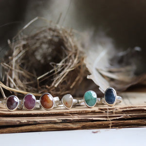 Gemstone Stack Ring w/ stackers - made to order