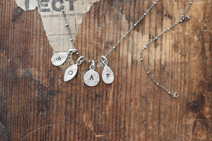 Initial Charm Necklace - one charm.