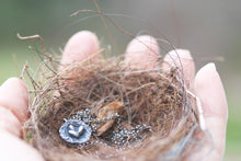 Load image into Gallery viewer, Nest : Sterling Silver Rustic Nest Necklace.