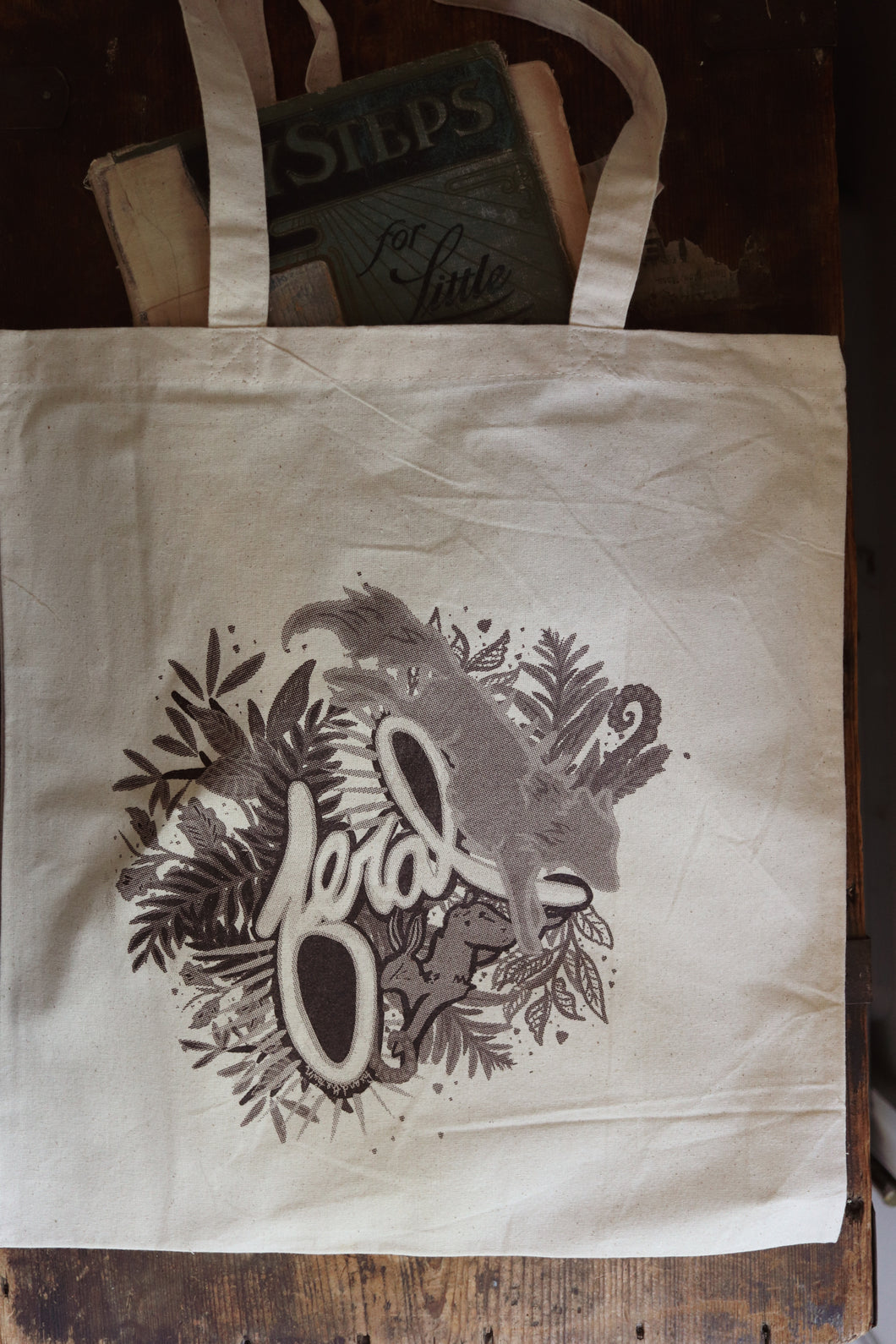 Feral Wolf / Rabbit Tote Bag