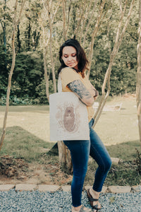 Cotton Otter Tide Tote Bag