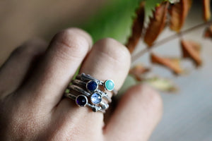 Sold out for the holidays * Artemis Lodestar - Birthstone Stack Ring
