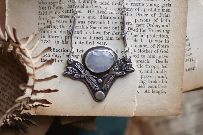 Raven's Forage - Moonstone Necklace - #12 -