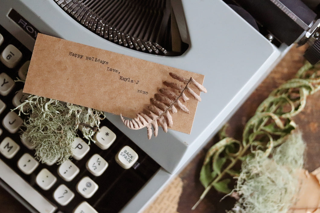 Add a typewriter note