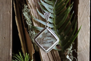 Winter Solstice - Quartz Dentric Specimen Necklace #4