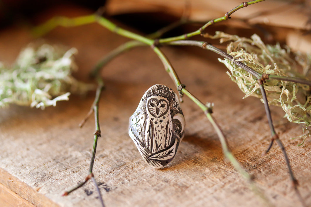 Night Guardian Owl Ring Size 6 - #11