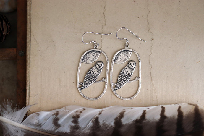 Night Guardian Owl Earrings