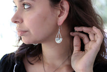 Load image into Gallery viewer, Cedar Shield Earrings