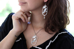 Star Night Guardian Owl  Earrings