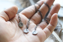 Load image into Gallery viewer, Luna Light . Sterling Silver crescent moon necklace.