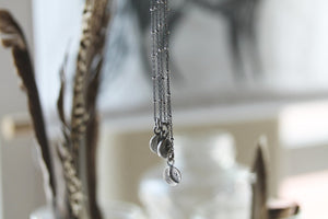Luna Light . Sterling Silver crescent moon necklace.