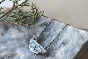 Mountain Scape - Sterling Silver Mountainscape necklace.