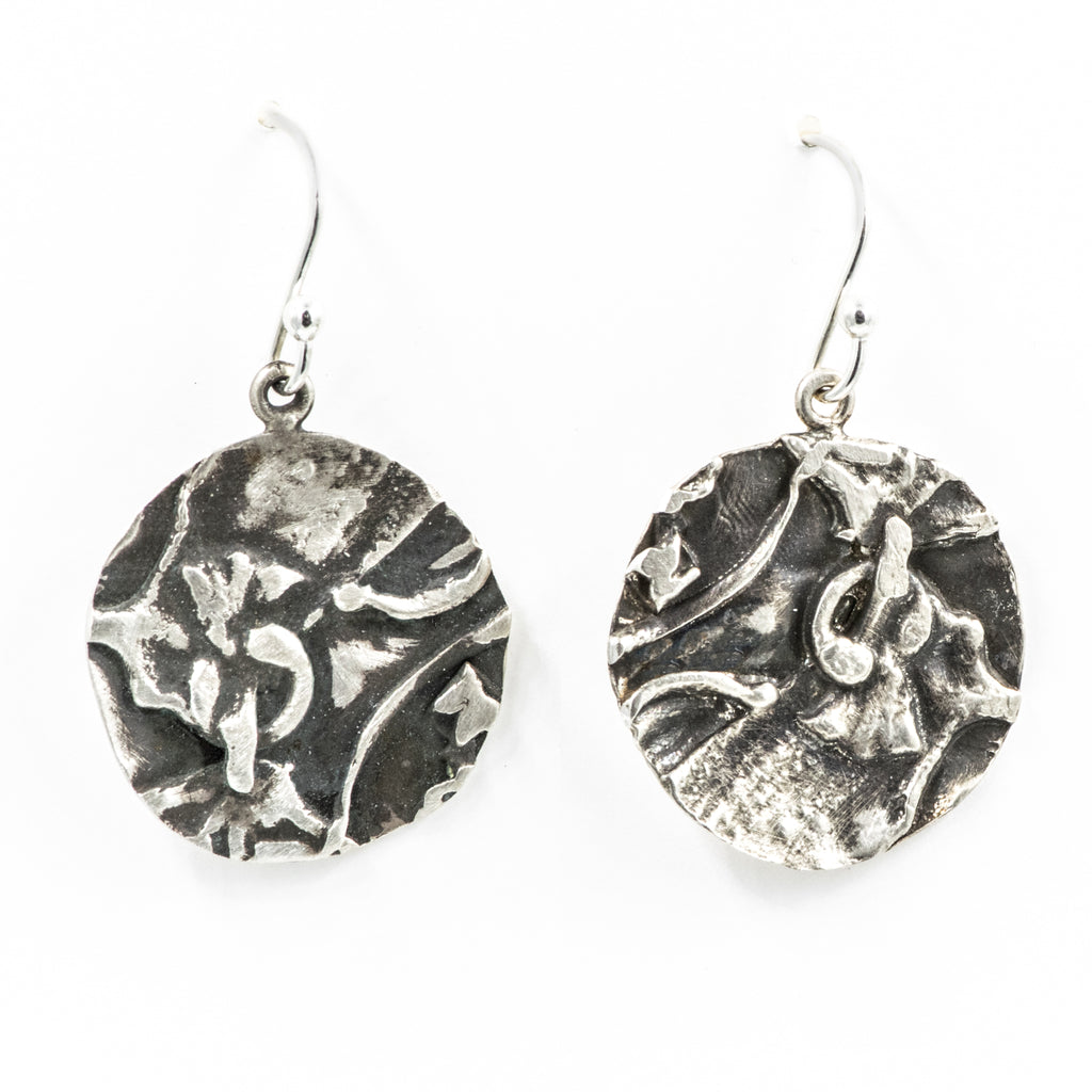 "¾"" Textural  Circle Earrings"