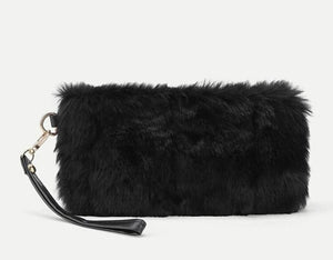 Faux Fur Clutch Bag 💼 - Vigorous Beauty Boutique