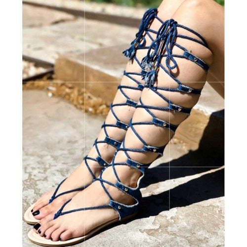Denim Gladiator Sandals !!!