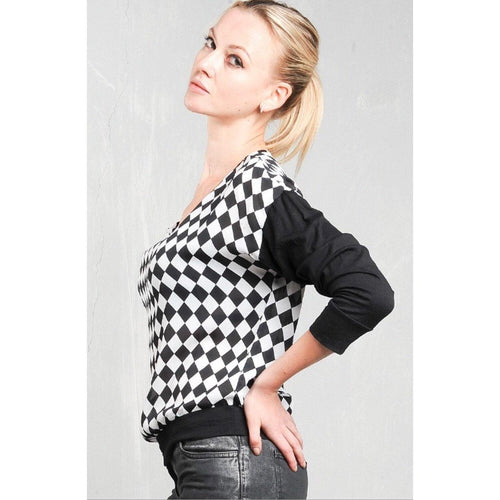 Checkered Sweater - Vigorous Beauty Boutique