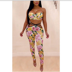 Sexy Yellow 3 Piece - Vigorous Beauty Boutique