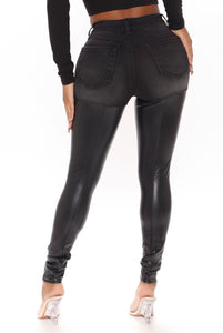 Best Of Both Worlds Faux Leather Jeans
