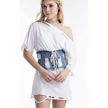 Denim Corset Belt