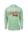 Verified Salty UV 50+ Protection Hoodie Shirt with Long Sleeves and Antimicrobial Finish for Men and Women (Florida)