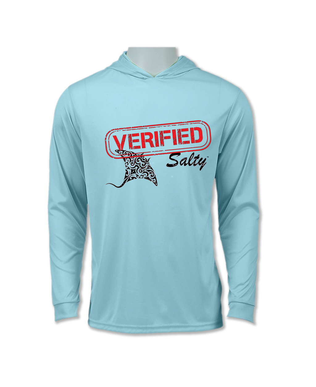 Long Sleeve Performance UV 50+ Hoodie Manta Ray