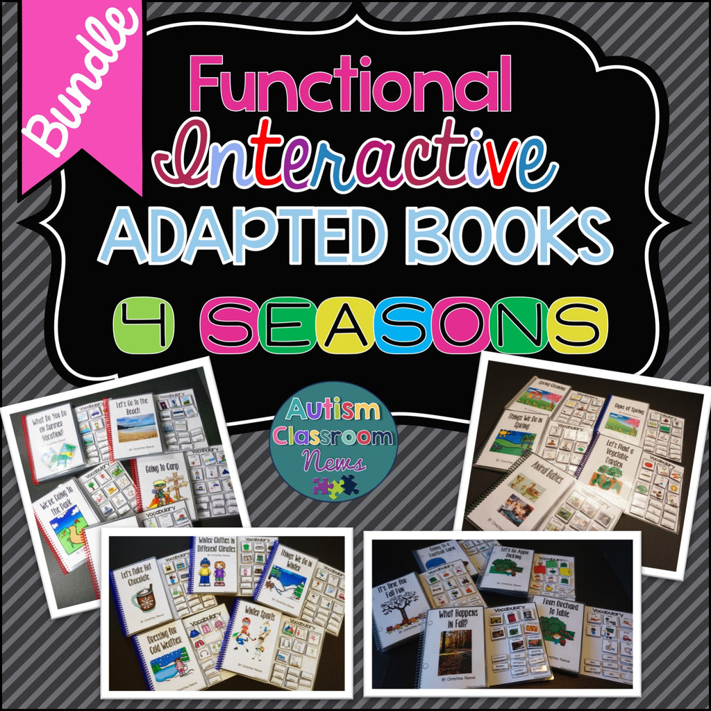 Seasons Book Collection: Functional Adapted Interactive Books for 4 Seasons