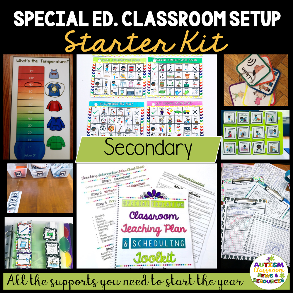 Middle and High School Special Education - Autism Classroom Setup Tools