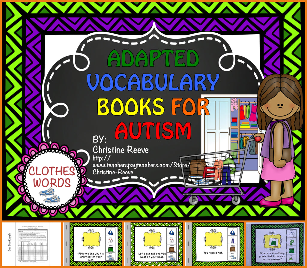 Autism Adapted Vocabulary Books: Clothing Words