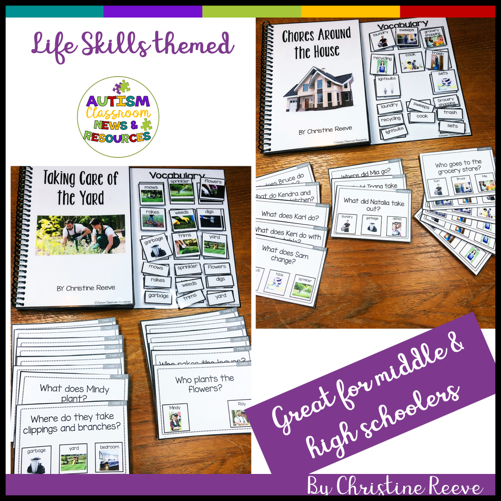 Functional Life Skills Interactive Books for Special Ed: Around the House