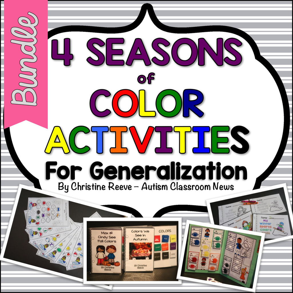 Color Activities for All Seasons Bundle: Generalization for ABA and Special Education - Autism Classroom Resources