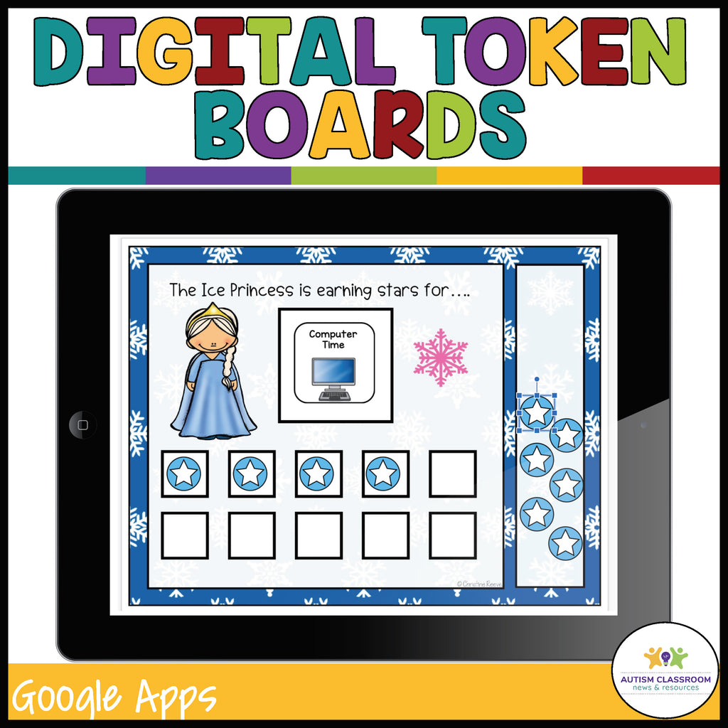 Digital Themed Token Boards for Distance Learning with Google Apps - Autism Classroom Resources
