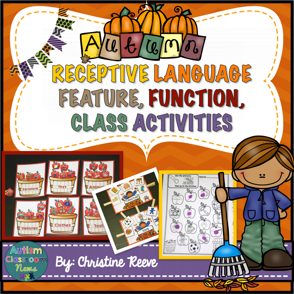 Autism Receptive Vocabulary Activities for Fall: Feature Function Class