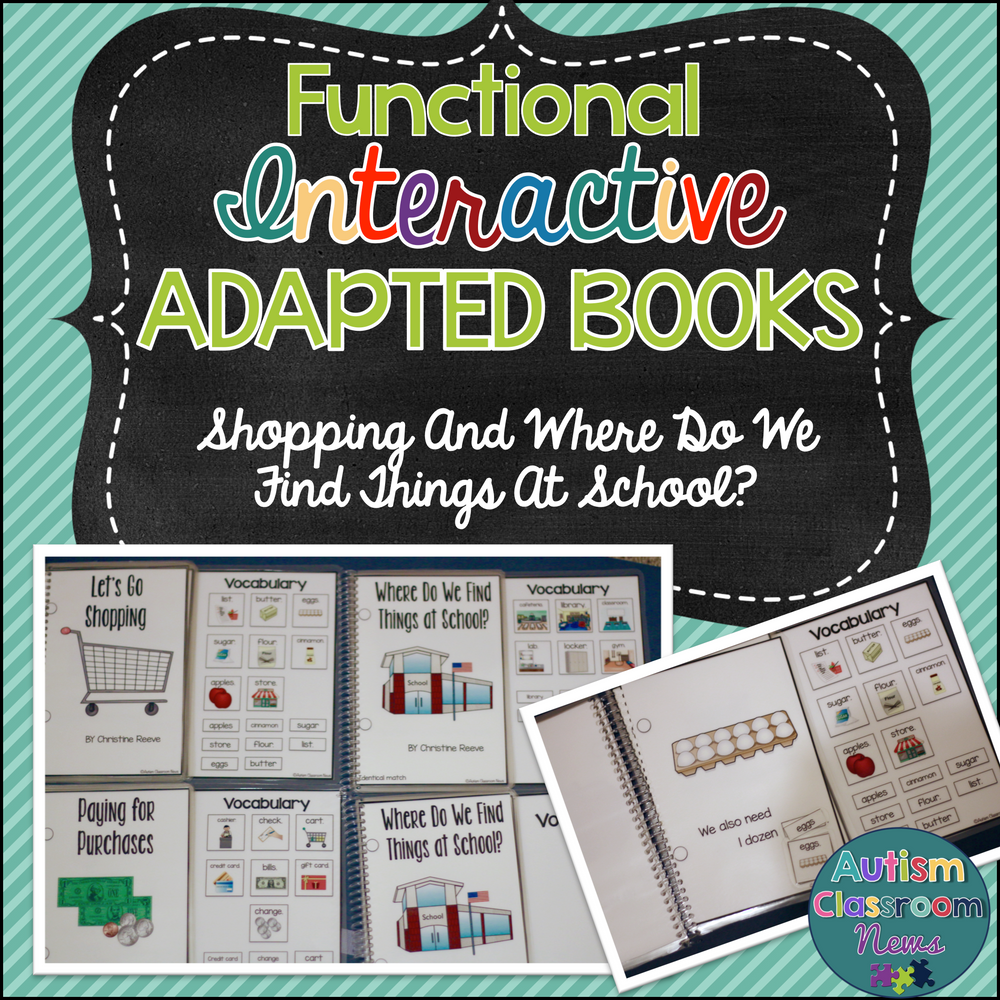 Functional Interactive Books About Shopping & School for Special Education - Autism Classroom Resources