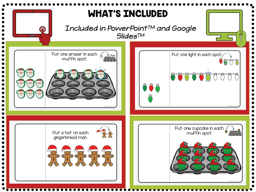 Christmas Simple Digital Work Boxes for Independent Work in Distance Learning with Put-In Tasks - Autism Classroom Resources