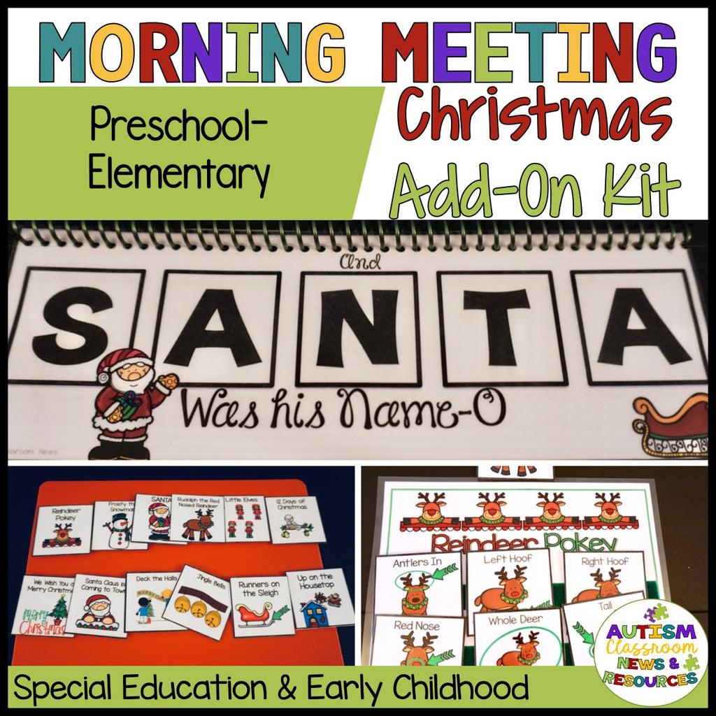 Morning Circle Christmas Add-On Kit for Preschool and Elementary Special Education - Autism Classroom Resources