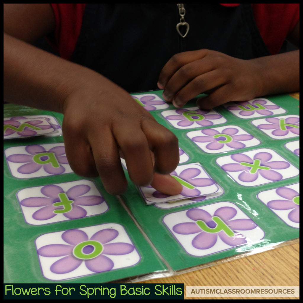 Spring Basic Skills File Folder Activities: Flower Letters, Numbers and Colors - Autism Classroom Resources