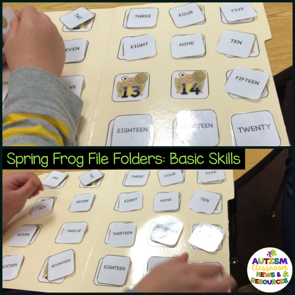 Basic Matching File Folders: Jump into Spring with Letters, Numbers and Colors