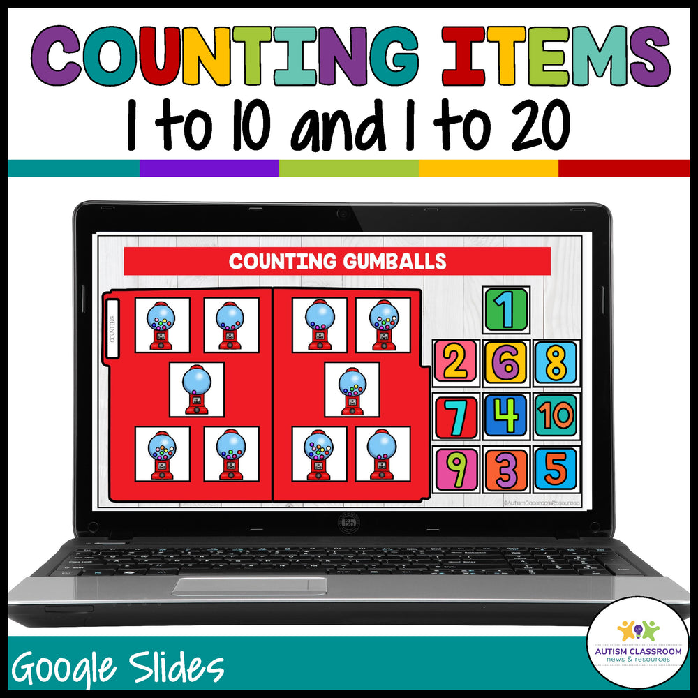 Basic Digital File Folders: Numbers for Matching in Distance Learning - Autism Classroom Resources
