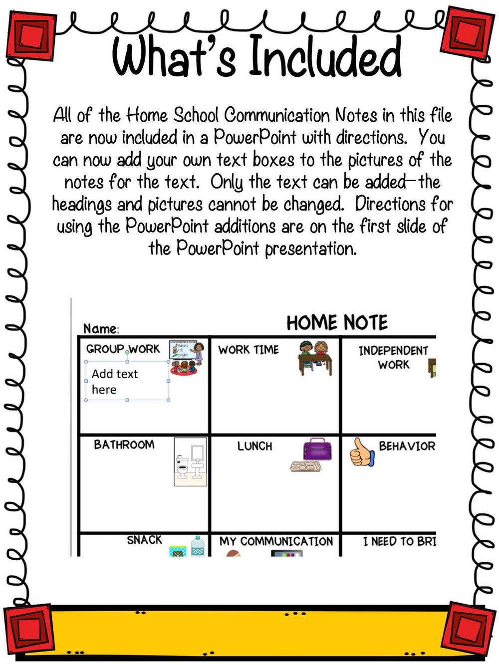 Preschool Special Education Home-School Communication Notes: Editable Included - Autism Classroom Resources