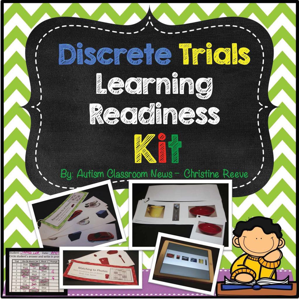 Discrete Trials Kit for Beginning Learner Skills for Students with Autism and Special Educatoin - Autism Classroom Resources