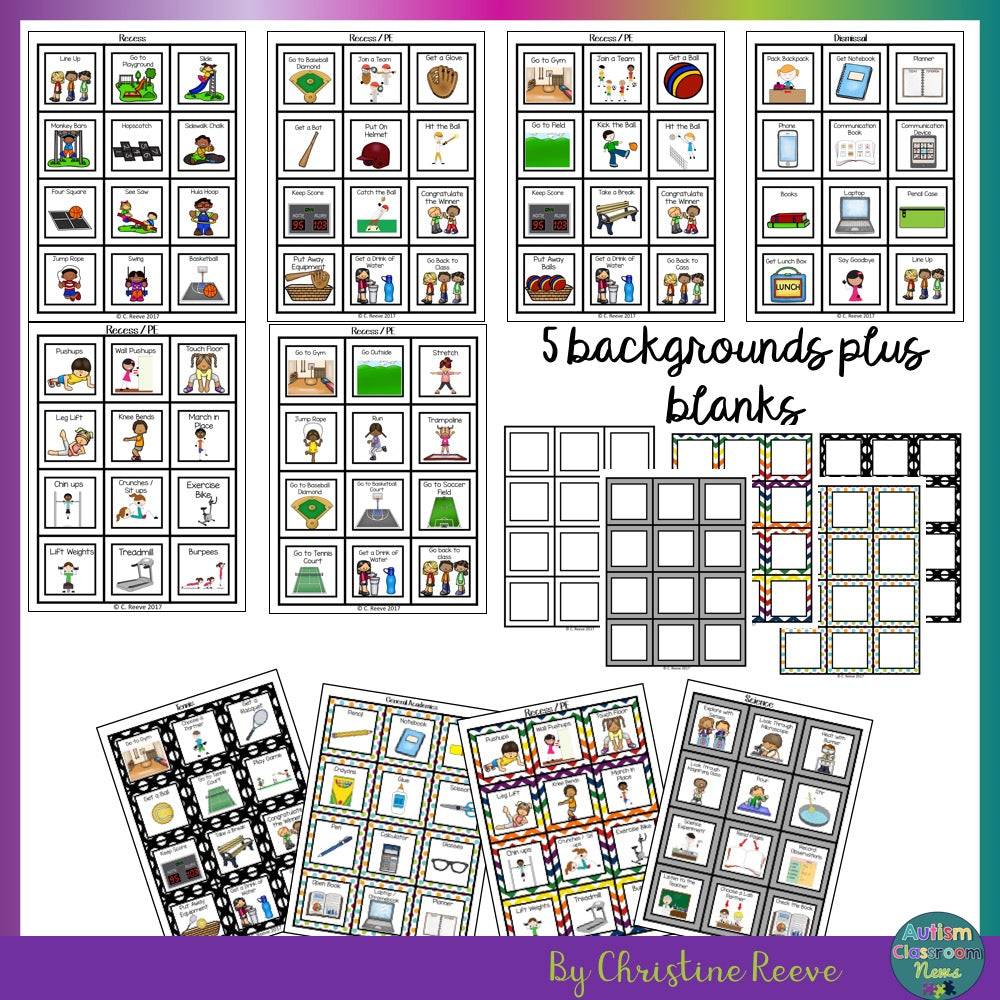 BUNDLE of Mini-Schedules For All Ages for Special Education - Autism Classroom Resources