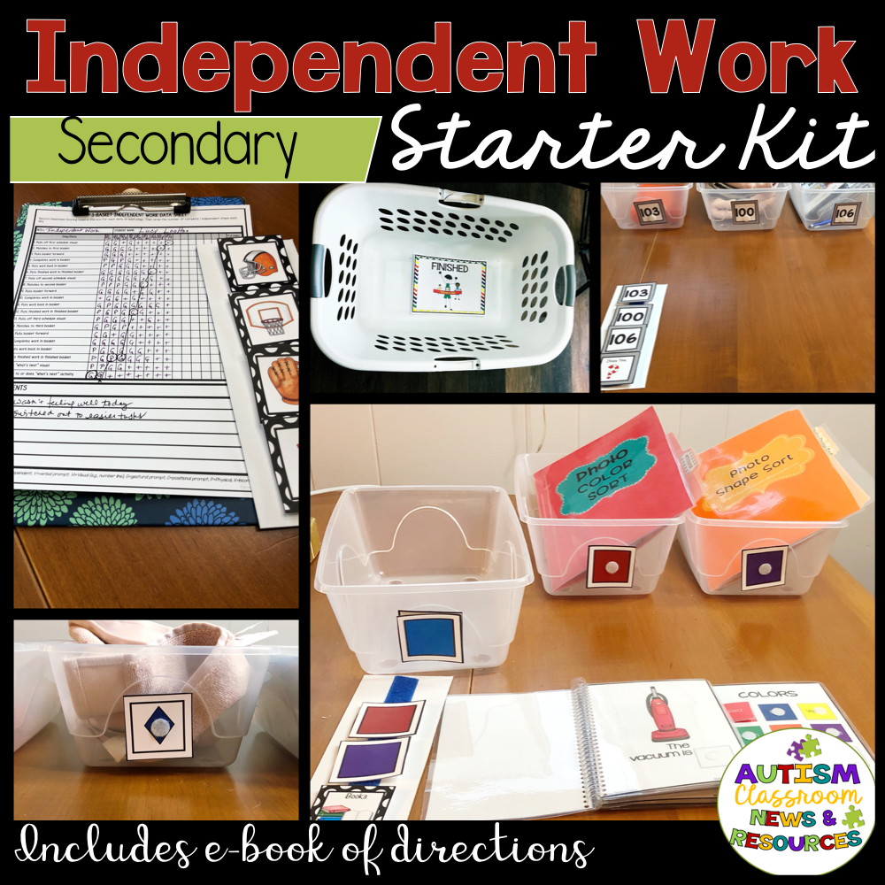 Independent Work Starter Kit for Secondary Special Education Classrooms - Autism Classroom Resources